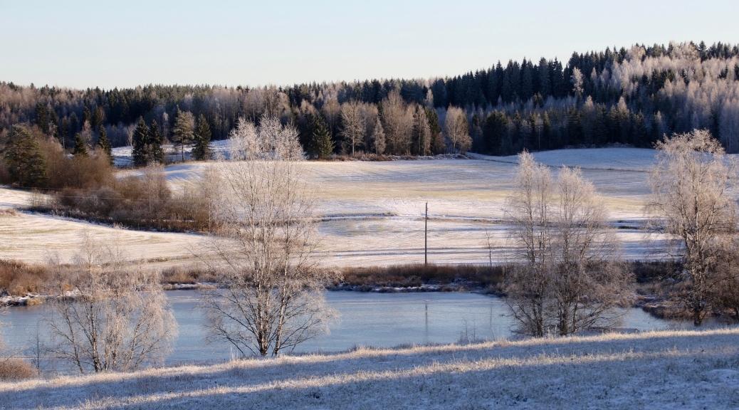 Maalaismaisema Talvimaisema Jokimaisema