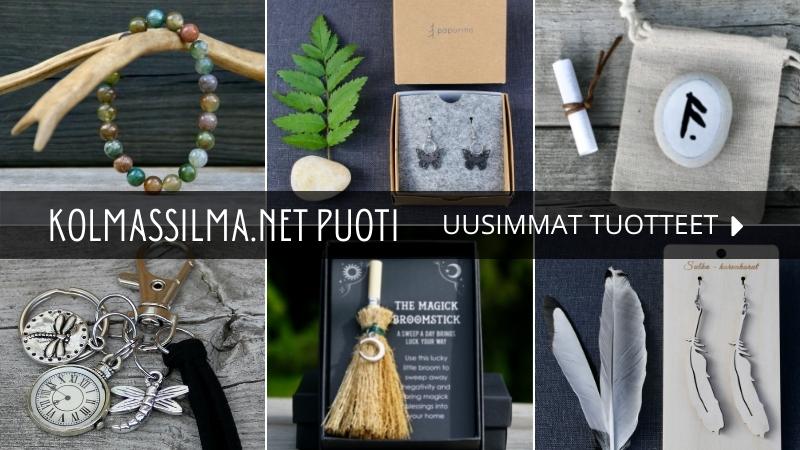 Kolmas Silmä Puoti Luonnonpakanan verkkokauppa Luonnonmystiikka Voimakivet Suomalaiset korut